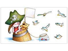 sticker decorativo pirata