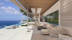 I'm dreaming again!  Who couldn't want a view like this?  And that's not all...the entire home is gorgeous.  Very contemporary indoor/outdoor living.