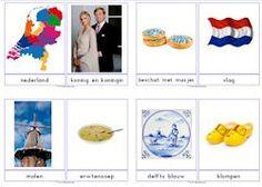 Grote woordkaarten bij het thema Nederland