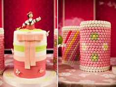 Left - #Doljanchi (or #Dol) cake: Doljanchi/Dol is a Korean tradition that celebrates the first birthday of a baby. Decorated with a Korean doll wearing Korean traditional costume, Hanbok; Right -Dol tower: Food is stacked high to symbolize a life of prosperity for the baby.