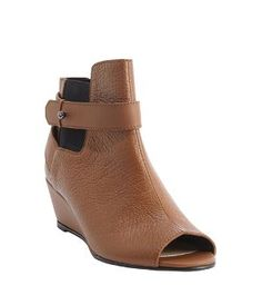 Nanette Lepore camel leather peep toe 'Vachetta' wedge heel booties - was $348.0, now $122.0 (65% Off). Picked by olga @ Bluefly