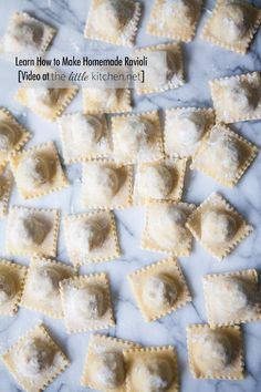 How to Make Homemade Ravioli includes #howto #video | thelittlekitchen.net | #ravioli #pasta #homemadepasta #kitchenaid #recipe