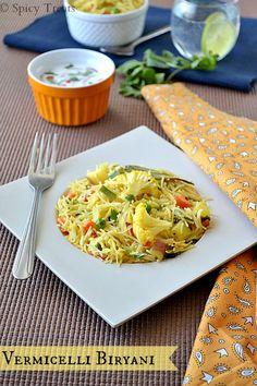 Spicy Treats: Vermicelli Biryani / Vermicelli Vegetable Biryani
