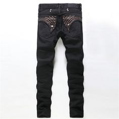 Hot bronzing black men's jeans, men's European and American fashion Slim Straight trousers, high quality men's jeans Robin