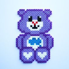 Care Bear hama perler beads by Little Miss Productive