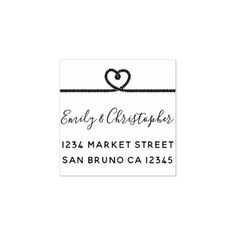 Nautical Tying The Knot Wedding Return Address Rubber Stamp - script gifts template templates diy customize personalize special