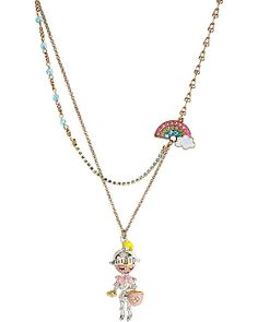 FAIRYLAND KNIGHT RAINBOW NECKLACE MULTI accessories jewelry necklaces fashion