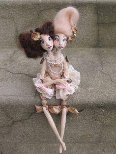 Ooak Art Doll  Anna and Moïra siamese twin doll by AlexandraSoury, $318.00
