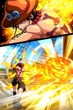 One Piece Comic, One Piece Ace, One Piece Fanart, One Piece Luffy, One Piece Manga, Anime One, Anime Manga, Blackbeard One Piece, Ace And Luffy