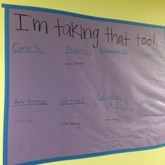 """""""I'm Taking That Too!"""" RA common courses informational board/wall talk for residents!"""
