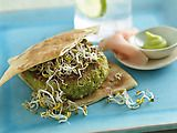 Look at this recipe - Edamame Veggie Burger - from Food Network Kitchens and other tasty dishes on Food Network. Vegetarian Types, Vegetarian Recipes, Veggie Recipes, Hamburgers, Food Network Recipes, Food Processor Recipes, Garden Burger, Basic Food Groups, Pan Integral