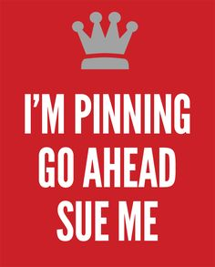 Poking the beehive. With all the talk about copyright infringements and #Pinterest, I'm still #Pinning. Sue me.