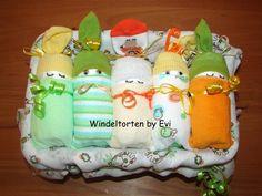 Windelbabys 'Neutral', die andere Windeltorte! von Windeltorten By Evi auf DaWanda.com