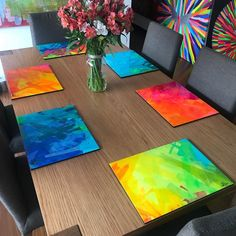 Painted Table Tops, Easy Canvas Painting, Art For Art Sake, Mandala Art, Resin Art, Doodle Art, Decoupage, Diy And Crafts, Christmas Gifts