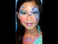 Seahorse Face Paint Design VIDEO Tutorial - YouTube