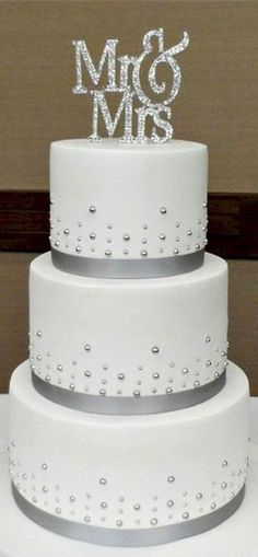 Simple But Elegant Tier Wedding Cake For Vicky And Tom Delicate
