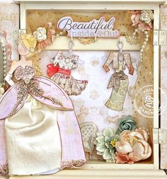 Scrap Escape: Prima Julie Nutting Doll Stamps and Jodie Lee's Princess Collection - Altered Princess Armoire closet ( Necklace Closet)