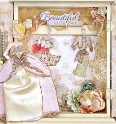 Scrap Escape: Prima Julie Nutting Doll Stamps and Jodie Lee's Princess Collection - Altered Princess Armoire closet ( Necklace Closet)