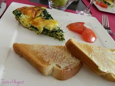 Taste of August: Easy Brunch Recipe - Spinach and Cheese Fritata