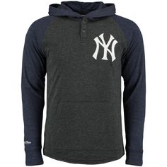 Mitchell   Ness New York Yankees Charcoal Home Stretch Lightweight Long Sleeve  Hoodie New York Yankees 5bb2d8cde
