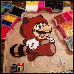 Super Mario perler beads by  ig_retro4everything_