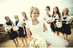 beach wedding colors are navy blue - Google Search