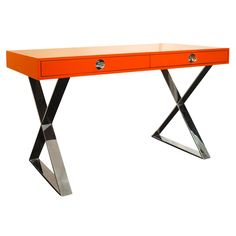 Jonathan Adler Channing Desk Orange  @zinc_door #zincdoor #jonathanadler #furniture