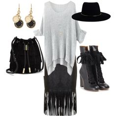 Kozy black lether by anne-kristoffersen on Polyvore featuring polyvore, fashion, style, Chloé, Zimmermann, Vince Camuto and Marc by Marc Jacobs