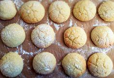 Faltige Zitronenkekse oder auch Lemon Crinkle Cookies, eine Mischung aus Kuchen und Keks