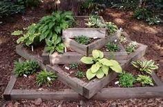 rail road tie garden  railway sleeper  raised beds re-purposed #upcycled diy