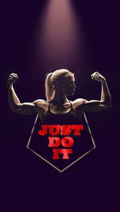 ↑↑TAP AND GET THE FREE APP! Art Creative Nike Quotes Just Do It Motivation Logo Red Black Girl Workout HD iPhone Wallpaper
