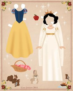 Disney Princess #paperdoll Collection 2 of 41 | by Cory Jensen.