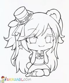 Gacha Life Coloring Pages. Print for Free Chibi Girl Drawings, Anime Drawings Sketches, Anime Sketch, Kawaii Drawings, Cute Drawings, Easy Cartoon Drawings, Doodle Drawings, Chibi Coloring Pages, Cute Coloring Pages