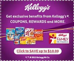 New Kellogg's Family Rewards Codes- 25 NEW Points!Get exclusive coupons and earn rewards from your favorite Kellogg's brands by logging in/signing up.Kellogg's Codes:EASYBARBECUEBITE – 25 points (added on – 50 points (added on Free Rewards, Reward Coupons, Free Printable Grocery Coupons, Points Plus, Miniature Food, 100 Free, Frugal, Saving Money, Budgeting