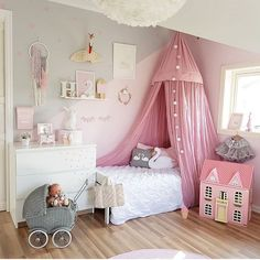 "Gefällt 1,151 Mal, 20 Kommentare - Kidz Decor (@kidz_decor) auf Instagram: ""Such a darling room! Love the pink canopy @mamma_malla"""