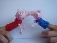 Ravelry: Peppa the pig and George finger puppet pattern by Mirjana Radovic