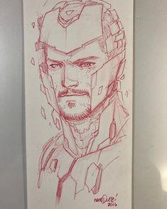 Iron Man by David Marquez Marvel Comics, Marvel Art, Marvel Heroes, Comic Book Artists, Comic Artist, Comic Books Art, Ironman Sketch, Comic Character, Character Design