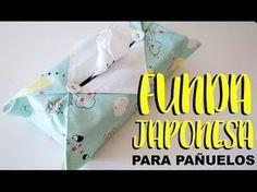Funda japonesa para pañuelos de papel. DIY - YouTube