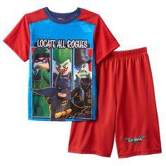 Boys 4 12 The LEGO Batman Movie Pajama Set Red