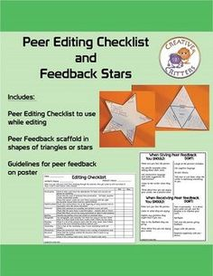 peer editing checklist for a 5-paragraph essay