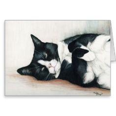 Black And White Tuxedo Cat Cards, Black And White Tuxedo Cat Card ...