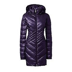 Lands' End - Purple lightweight packable hyperdry down parka