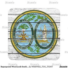 Repurposed Wood Look South Carolina Coaster