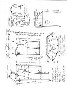 Blazer peplum – DIY – molde, corte e costura – Marlene Mukai - Moldes Moda Coat Patterns, Dress Sewing Patterns, Sewing Patterns Free, Clothing Patterns, Vogue Patterns, Vintage Patterns, Vintage Sewing, Blazer Pattern, Jacket Pattern