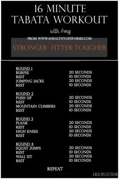 VISIT FOR MORE Tabata Workout with Amy Stafford at www.ahealthylifef The post Tabata Workout with Amy Stafford at www.ahealthylifef appeared first on fitness. Fitness Workouts, Fitness Motivation, At Home Workouts, Fitness Tips, Health Fitness, Fitness Foods, Fitness Weightloss, Crossfit Bodyweight Workouts, Hiit Workouts Fat Burning