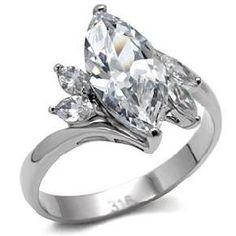Smashing 4.5 CT. SS Marquise Cut Wedding/Engagement Ring Sizes 5-10