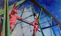 Kitschbridge Acryl/Canvas 60 x 100 cm Ferris Wheel, Fair Grounds, Paintings, Canvas, Tela, Paint, Painting Art, Canvases, Draw