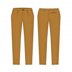 patron de couture femme – Fusain le pantalon classique …