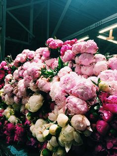 Two of my favorite things: Peonies and SanFran.... peonies at the san francisco flower mart