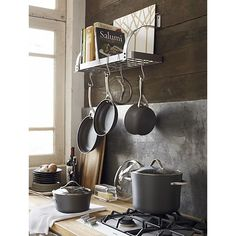 Calphalon® Contemporary® Nonstick 9-Piece Cookware Set with Bonus in Cookware Sets | Crate and Barrel